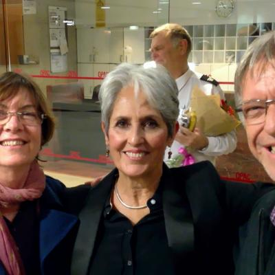 Sue And Lachlan With Joan Baez